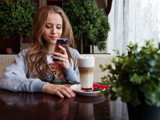 Teenage girl on phone