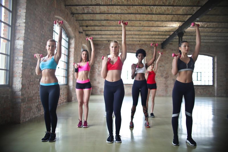 Women working out at the gym