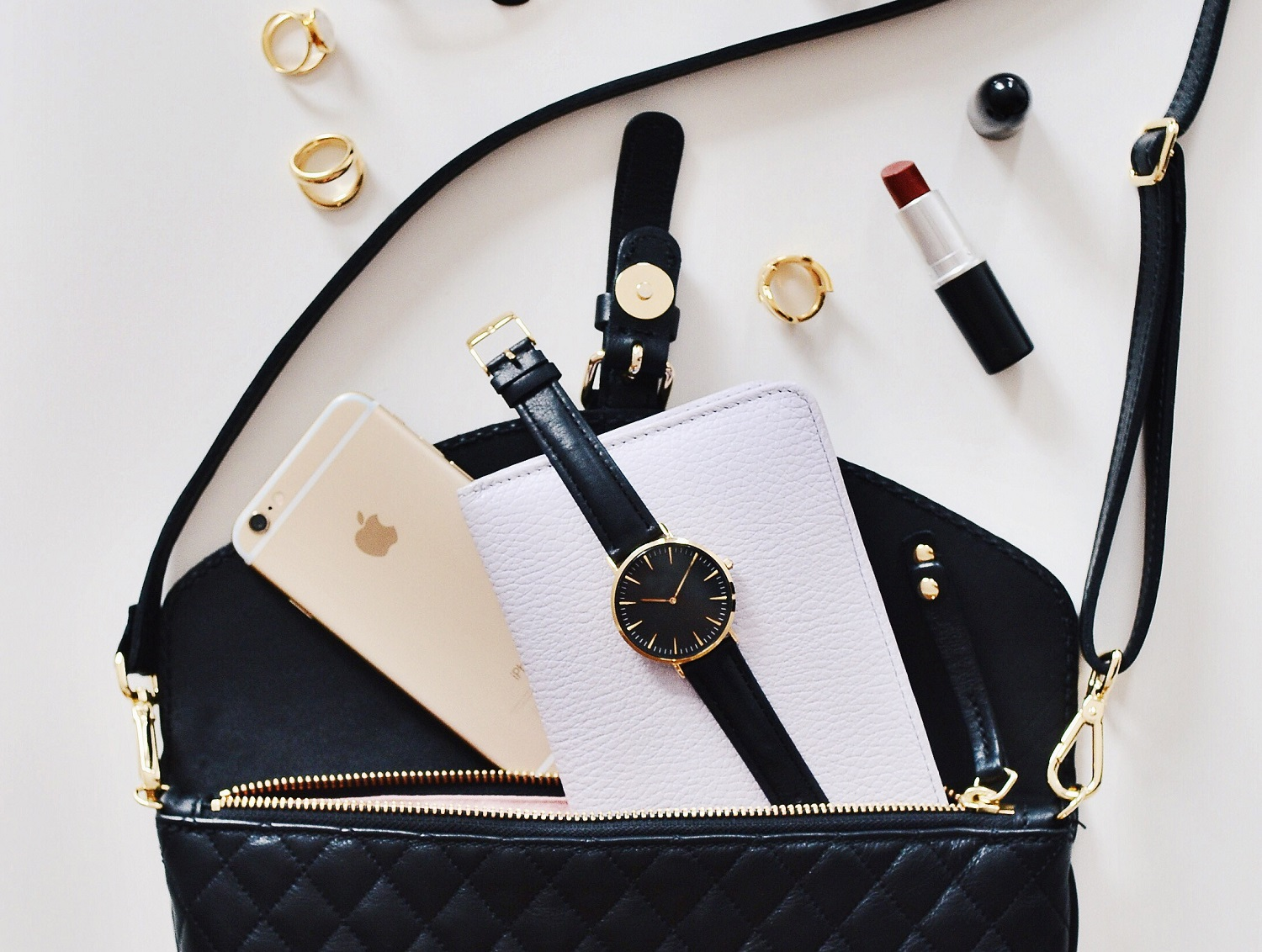 Flat lay accessories