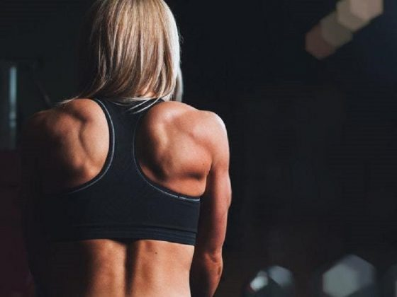 Muscular woman, fitness