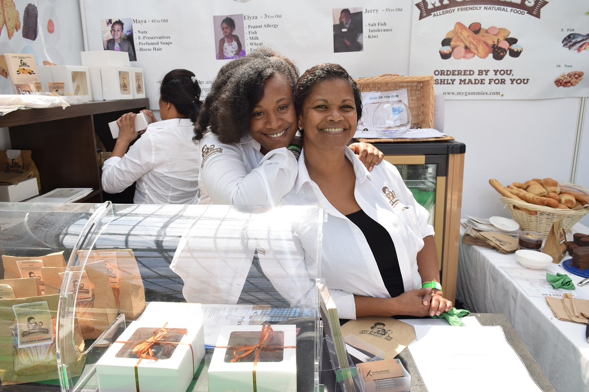 Left Rebekah Gooden and her mother and business partner, Marie-Anne Rasé, founders of My Gammies